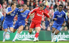 Обои Фрэнк Лэмпард, club, поле, мяч, футбол, Ливерпуль, football, Джон Терри, John Terry, Liverpool vs Chelsea, ...