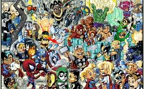 Картинка железный человек, халк, тор, марвел, человек паук