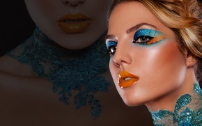 Картинка ресницы, стиль, фон, макияж, губы, тени, девушка. модель