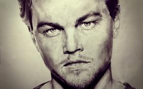 Картинка рисунок, портрет, арт, Leonardo DiCaprio