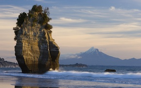 Картинка Скала, гора Таранаки, Новая Зеландия