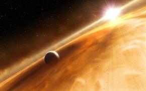Картинка звезда, планета, облако