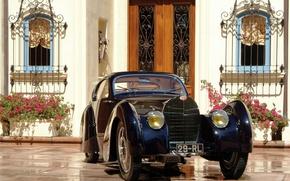 Обои автомобиль, bugatti, type 51, dubos, coupe, 1931, classic
