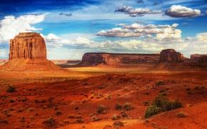 Обои Пустыня, Скалы, Небо