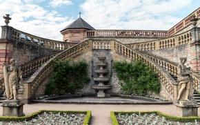 Картинка дизайн, Германия, лестницы, крепость, скульптуры, Мариенберг, Marienberg Fortress