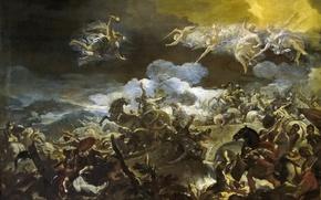 Картинка картина, мифология, Лука Джордано, Поражение Сисары