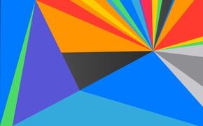Картинка лучи, линии, краски, объем