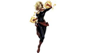 Картинка белый фон, Marvel, комикс, Мисс Марвел, Carol Danvers, Captain Marvel, Капитан Марвел, Кэрол Дэнверс, Ms …