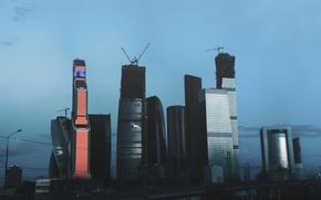 Картинка Москва, Россия, небоскрёбы, Moscow, Москва сити, столица, Khusen Rustamov, ART.IRBIS Production