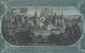 Картинка people, eagle, horse, shield, 10 dollar bill
