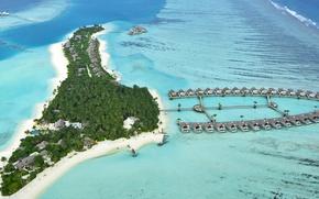 Картинка океан, остров, отель, Maldives, Niyama