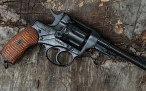 Картинка оружие, Nagant, фон, револьвер, 1941, наган