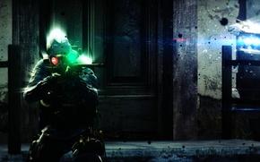 Обои мрак, бтр, авп, контр страйк, counter-strike, контр, sniper, винтовка, inferno, темнота, машина, css, sas, cs:go, ...