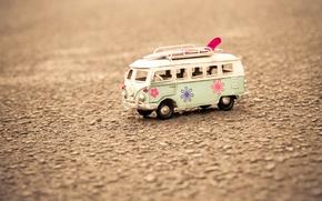 Картинка асфальт, макро, фон, земля, widescreen, обои, настроения, игрушка, wallpaper, автобус, широкоформатные, background, полноэкранные, HD wallpapers, …