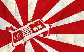 Картинка япония, флаг, приставка, джостик