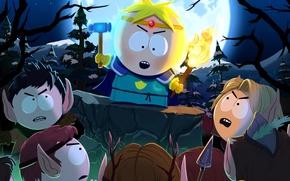 Картинка эльфы, молоток, факел, South Park The Stick Of Truth, Баттерс