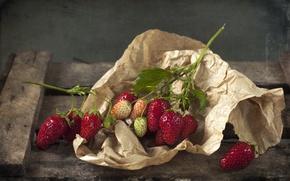 Картинка бумага, ягоды, клубника