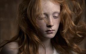 Картинка девочка, веснушки, рыжеволосая, Jamie