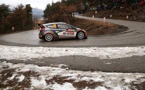 Картинка Ford, Форд, WRC, Rally, Ралли, Fiesta, Kubica, Monte Carlo