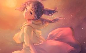 Обои piyo7piyo9, hyuu, арт, mogumi, popolocrois, аниме, девушка, слезы