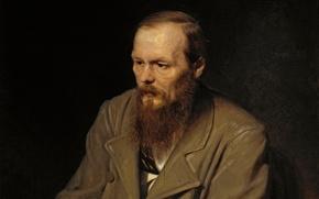 Картинка масло, портрет, живопись, достоевский