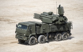 Обои российский, комплекс, самоходный, Панцирь-С1, ракетно-пушечный, зенитный, (ЗРПК), наземного базирования