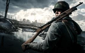 Картинка война, солдат, винтовка, Electronic Arts, Battlefield 1