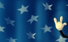 Картинка звезды, рисунок, рука, флаг, stars, 1920x1080, flag, hand, picture, mickey mouse, мики маус