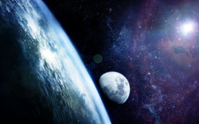 Картинка space, stars, planets, Sci Fi