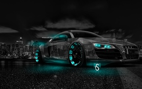 Обои Тони Кохан, Tony Kokhan, Ночь, Crystal, el Tony Cars, Photoshop, Город, Фотошоп, Tuning, Обои, Azure, ...