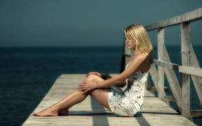 Картинка девушка, мост, Xenia