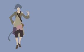 Картинка monkey, minimalism, anime, tail, man, boy, assassin, hero, asian, warrior, manga, japanese, oriental, asiatic, yuusha, …