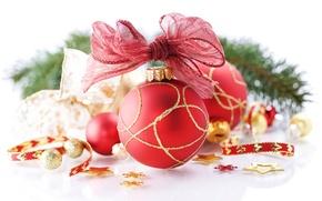 Обои игрушка, рождество, праздник, шар, зима