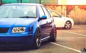 Обои фары, тюнинг, Volkswagen, Jetta, Car, диски, Blue, Wheels, Bora, обода, Eryk Wroblewski, JDM Style, XXR, ...
