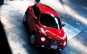 Картинка Красный, Машина, Ниссан, Nissan, Red, Car, Автомобиль, Cars, Juke