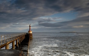 Картинка море, пляж, небо, отдых, маяк