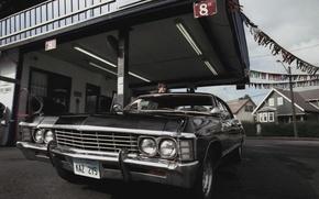 Картинка Chevrolet, Сериал, Автомобиль, Актёр, Supernatural, Сверхъестественное, 1967, Impala, Джаред Падалеки