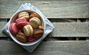 Обои стол, сладость, десерт, печенье, Macaron, тарелка