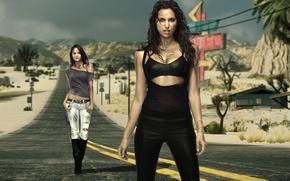 Картинка irina sheik, модели, красотки, крисси тейген, ирина шейк, chrissy teigen, need for speed: the run