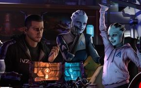 Картинка shepard, Mass Effect, asari, Liara T'Soni