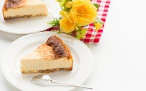 Обои торт, выпечка, десерт, чизкейк, сладкое, творог, cheesecake, пирожное