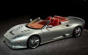 Обои авто, серебристый, Spyker C8 Aileron Spyder