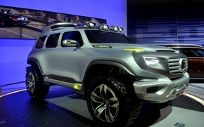 Картинка экологически чистый автомобиль будущего, уникальный дизайн, супер-внедорожник, Mercedes-Benz Ener-G-Force