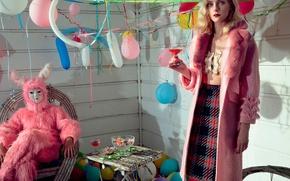 Картинка шарики, день рождения, напиток, 2015, Numero, Jessica Stam, Джессика Стэм