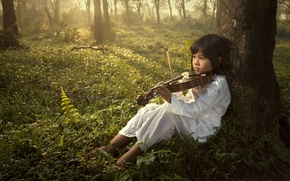 Картинка музыка, child, violin