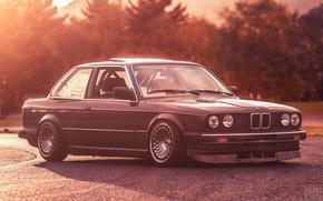 Картинка BMW, white, E30, 3 Series, Evoked Photography