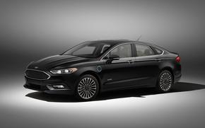 Картинка Ford, серый фон, форд, Fusion, фиеста, Fiesta, фьюжн