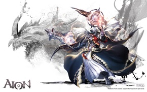 Картинка дракон, посох, ncsoft, Aion 3.5