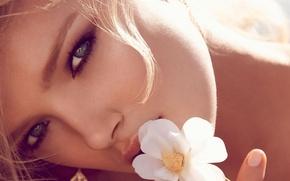 Картинка Цветок, Губы, Глаза
