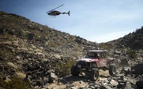 Картинка пустыня, джип, вертолет, desert, jeep